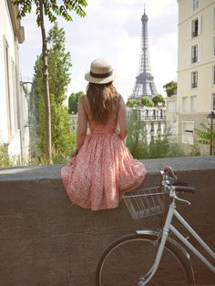 #pink and un vélo...