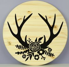 Antlers Virtual Class, Diy Arts And Crafts, Paint Party, Craft Kits, Antlers, Wood Signs, Decorative Plates, Painting, Home Decor