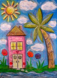 A Painting Mom: Sharing My 'Sunshine' Art