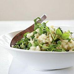 English Pea Risotto Recipe | MyRecipes.com