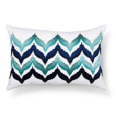 "Elena Embroidered Rectangle Pillow (18""x12"") Navy - Sabrina Soto™ : Target"