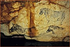 cave art paintings cosquer cave france. The Panel of the Black Horses