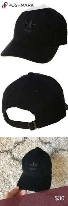 fb0bbe32 Adidas// Originals Relaxed Corduroy Black Cap Black Corduroy classic adidas  hat. Great condition