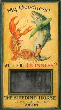 GUINNESS ADVERTISING MENU BOARD MY GOODNESS SIGN.