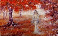 """Remember November"", soft pastel, for sale Golden Hair, Expressive Art, Art Pictures, Art Pics, Photos, Medium Art, Contemporary Artists, Impressionism, Lovers Art"