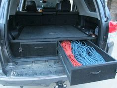 Cargo drawers and sleeping platform - Toyota Forum - Largest Forum Motorcycle Camping, Truck Camping, Camping Gear, 4runner Accessories, Truck Accessories, Toyota 4runner Interior, Toyota Sequioa, Offroader, Nissan Patrol