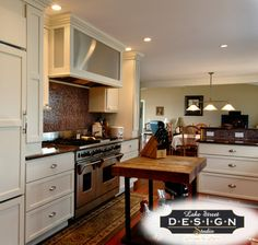 Kitchen Remodel In Petosky, MI. Designed By Dawn In Petosky, MI. StarMark  Cabinetry Hudson Door Style In Maple Finished In Ivory Cream.