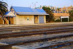 An abandoned railway station at Humerail, Port Elizabeth, South Africa.