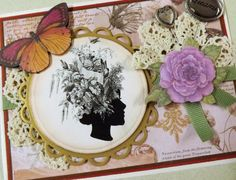 Blank Shabby Chic  Silhouette Card  Dreams by YourCardConnection, $6.75