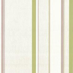 "chimney breast? ""Designer Selection Jasmine Striped Wallpaper Green / Gold"""