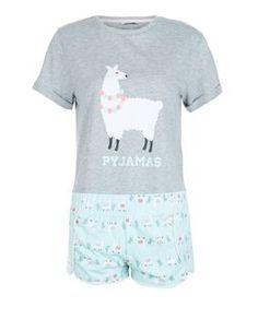 - 1 pyjama top and 1 pair of shorts included- Llama print- Simple short sleeves Cute Pjs, Cute Pajamas, Girls Pajamas, Alpacas, Llama Pajamas, Pyjamas, Outfits For Teens, Cute Outfits, Llama Shirt