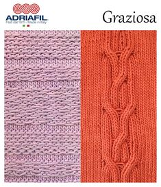#AdriafilYarns #Graziosa Playing with fantasy and stitches... it's easily and surprising with Graziosa! Pattern and colours here: http://bit.ly/AdriafilGraziosa_UK