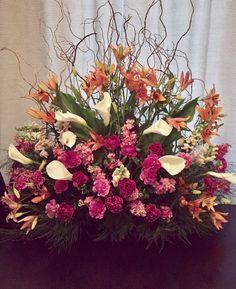 A Podium Arrangement in Spring colors!