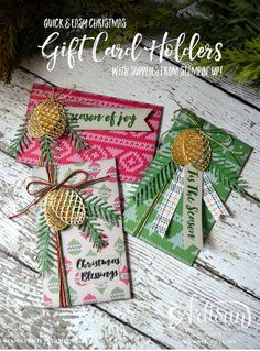 Christmas, Christmas Pines, Gift Card Holder, Pretty Pines, Warmth & Cheer