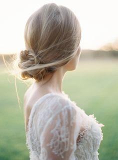 bridal bun | kurt boomer photography | via: dust jacket