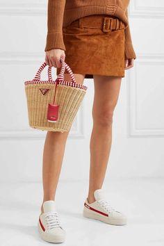 2b29cf2b7 27 Best Wicker Handbags for Spring and Summer 2019! Striped CanvasStraw ...