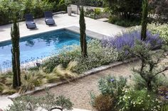 Garden: pro ideas for landscaping - Aix-en-Provence, Creation of a private garden, landscape architect, landscape designer, exterior de - Small Gardens, Outdoor Gardens, Garden Online, Aix En Provence, Small Garden Design, Garden Pool, Private Garden, In Ground Pools, Cool Pools