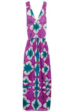 tie-dye purple and teal marni maxi dress $661.50