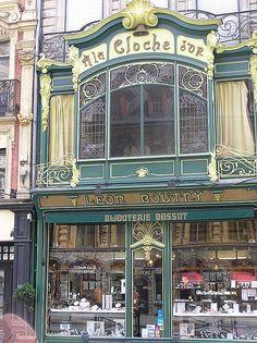 Art Nouveau Shop in Lille, France Metz France, France Art, Ville France, Art Deco, Art Nouveau Arquitectura, Restaurant Hotel, Roubaix, Shop Fronts, Shop Around