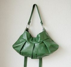 Aleina Leather Bag: Great Green Bag! Made of Italian Lambskin.