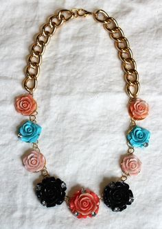 necklace : DIY: Erickson Beamon inspired Rose Garden Bib Necklace
