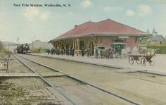 wellsville, NY photos   As the original B main line ran down the west bank of the river ...