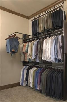 Tailored Living Gallery | Tailored Living Pull down closet rack