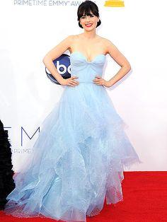 ZOOEY DESCHANEL Emmys 2012