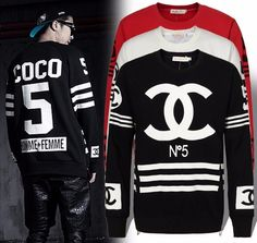'CoCo' CC Homme FemmeLA Hockey Style Sweatshirt