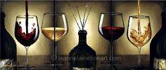 """""""Vincense"""" by © Leanne Laine Fine Art https://www.facebook.com/leannelainefineart #wine #wineart #winepainting #fineart #art #paintings #vincense"""