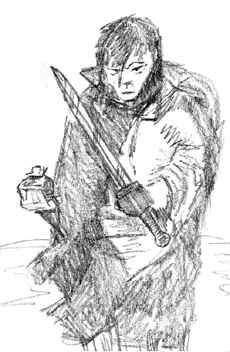 Thorodale and his bag of salt: Illustration by Sigurd Towrie