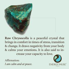 Raw Chrysocolla Stone