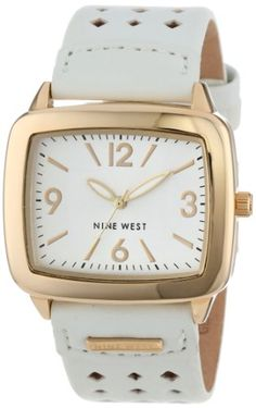 Nine West Women's Square Gold-Tone and White Strap Watch Nine West http://www.amazon.com/dp/B003G6SPJS/ref=cm_sw_r_pi_dp_llwCub1WM8RNM
