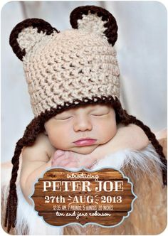 Boy Photo Birth Announcements Woodsy Delight - Front : Chill