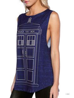Schematic Tardis Muscle Top - LIMITED (WW ONLY $60AUD) by Black Milk Clothing