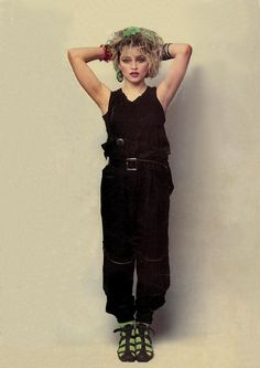 Madonna, 1983- The Borderline single cover session by Helmut Werb.