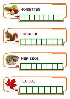 Learn to write words in kindergarten . Fine Motor Activities For Kids, Autumn Activities, Montessori Materials, Montessori Activities, French Classroom, Learning To Write, Teaching French, Preschool Kindergarten, Home Schooling