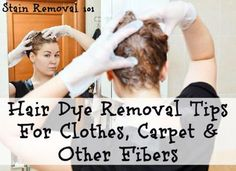 Here are hair dye removal tips and tricks for clothes, carpet and other fibers to try to remove drips and spills from these surfaces.