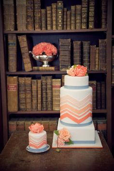 For all you Chevron lovers out there! Cake by incrediblesbylani..., Photography by novamarkina.com