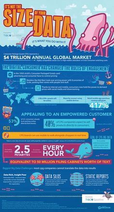 TIBCO - Consumer Packaged Goods: Engaging with the Empowered Consumer Business Software, Business Infographics, Business Ideas, Social Media Automation, Marketing Automation, Leadership, Rules Of Engagement, Startup, Information Graphics