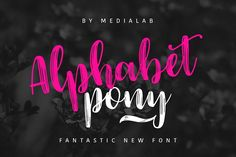 Alphabet Pony - Free Font of The Week from FontBundles.net