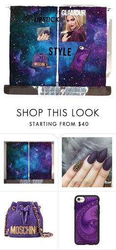 """All purple all day"" by queenofdraguns ❤ liked on Polyvore featuring beauty, Moschino and Casetify"