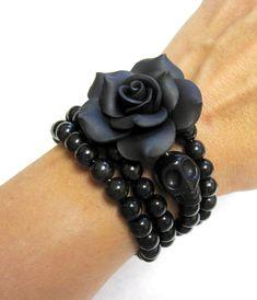Day of the Dead Bracelet Sugar Skull Cuff Wrap by sweetie2sweetie