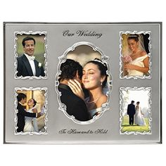 Malden International Designs Our Wedding Two Tone Collage Picture Frame, 5 Option, 1-4x6 & 4-3.5x5, Silver -- For more information, visit image link.