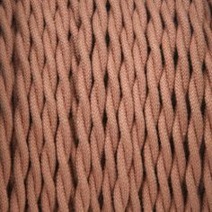 2-Conductor 18-Gauge Light Brown Cotton Twisted Pair Wire -- cloth-covered electrical wire