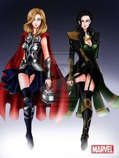 Genderbent Avengers Fan Art http://geekxgirls.com/article.php?ID=1755