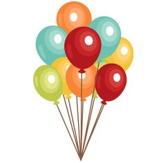 Birthday Balloons clip art  SVG scrapbook cut file cute clipart files for silhouette cricut pazzles free svgs free svg cuts cute cut files