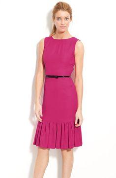 Kate Spade New York 'Siren' Ruffle Hem Sheath Dress $448 Nordstrom