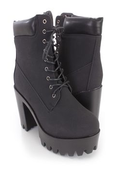 These sexy and stylish chunky platform bootie heels include a nubuck faux leather upper with a lace up tie design, round closed toe, traction soles, stitched detailing, smooth lining,and cushioned footbed. Approximately 4 inch heels and and 1 1/2 inch platforms.http://www.amiclubwear.com/chunky-heels.html