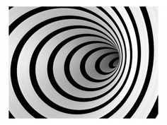 Wall Mural Black and white tunnel 60156 additionalImage 1 Geometric Patterns, Geometric Art, Creative Wall Painting, 3d Wall Painting, Papier Paint, Cool Optical Illusions, Illusion Art, Purple Aesthetic, Colorful Wallpaper
